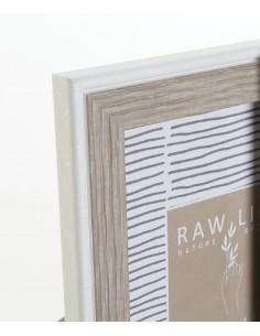 Set 3 perchas madera blancas