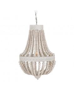 Lámpara techo bambú beige Chabi
