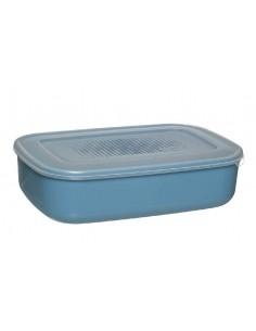 Pie Florero Cerámica Azul 19cm