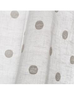 Lámpara techo bambú blanco Chabi