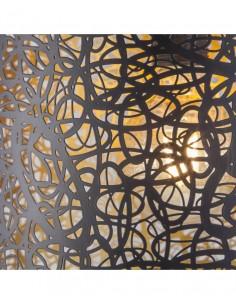 Cuadro decoración flor metal