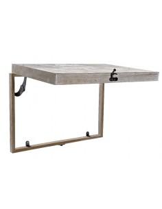 Mesa escritorio metal cristal Planet